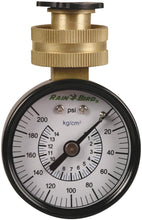 "Load image into Gallery viewer, Rain Bird P2A Water Pressure Test Gauge, 3/4"" Female Hose Thread, 0-200 psi"