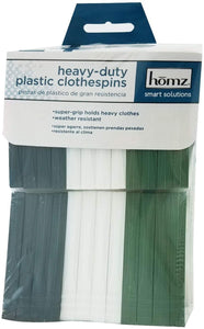 Homz Heavy Duty Plastic Clothespins 24 Count