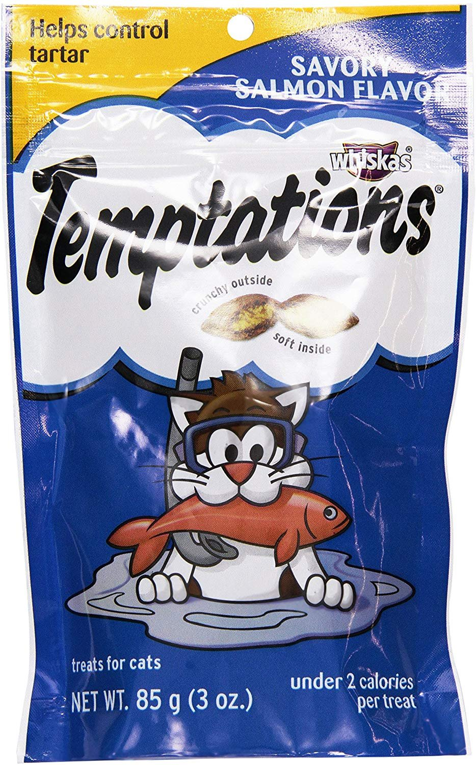 Whiskas Temptations Savory Salmon Cat Treats, 3 oz