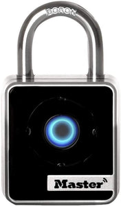 Master Lock 4400D Indoor Bluetooth Smart Padlock, 2-Inch Wide Body, 7/8-Inch Shackle Height, 9/32-Inch Diameter Shackle