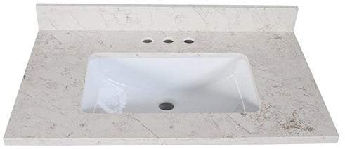 Design House 2020534 Quartz Vanity Top, Giallo