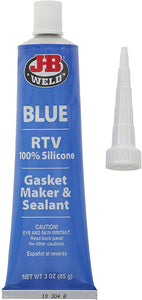 J-B Weld 31316 Blue RTV Silicone Gasket Maker and Sealant, 3. Fluid_Ounces