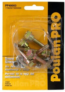 Poulan Pro PP40003 6-Pack Of Snow Thrower Sheer Pins & Bolts