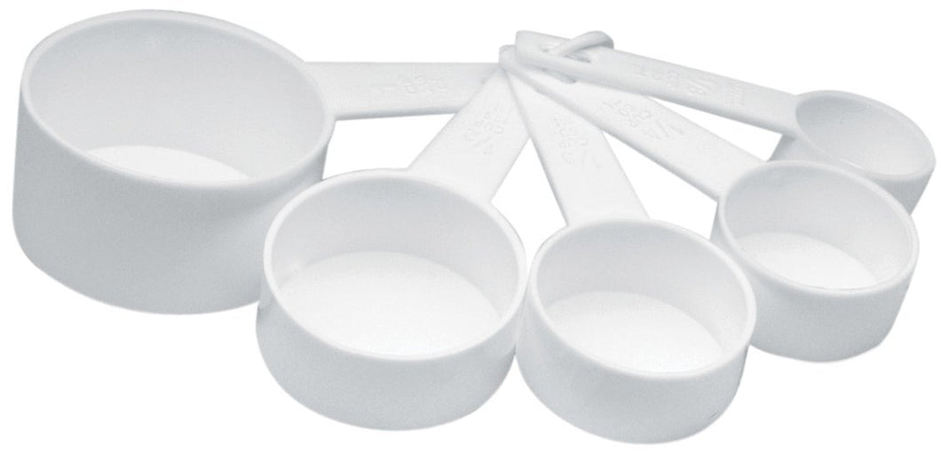 Norpro 3044W Measuring Cups, Set of 5, White