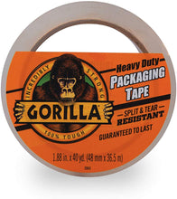"Load image into Gallery viewer, Gorilla Heavy Duty Large Core Packing Tape for Moving, Shipping and Storage, 1.88"" x 40 yd, Clear, (Pack of 1)"