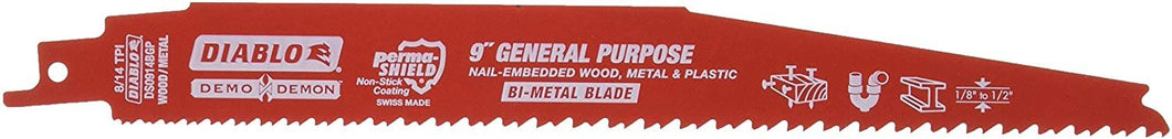 Freud DS0914BGP5 9-Inch x 8-14T Demo Demon Diablo Reciprocating Blade, 5-Pack