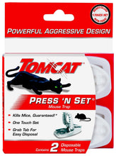 Load image into Gallery viewer, Tomcat Press 'N Set Mouse Trap, 2-Pack