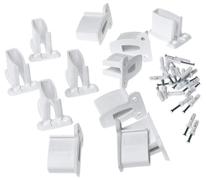 ClosetMaid Wall Brackets, White, 12-Pack #1782
