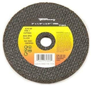 "Forney Cut-Off Wheel 3 ""X1/8 ""X3/8 "" 25500 Rpm"