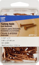 Load image into Gallery viewer, Hillman Fastener Corp 42081 Copper Nail