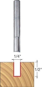 "Freud 1/4"" (Dia.) Double Flute Straight Bit with 1/4"" Shank (04-104)"