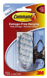 Command Strips 17093CLR Command Large Clear Hook 36-Pack