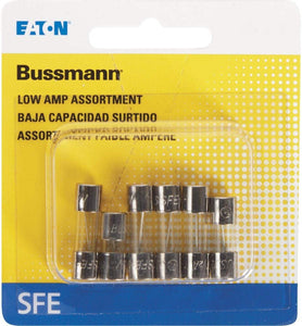 Glass Fuse ASST-Low AMP-6/CARD