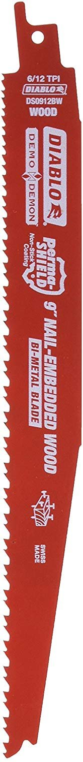 Freud DS0912BW5 9-Inch x 6-12T Demo Demon Diablo Reciprocating Blade, 5-Pack