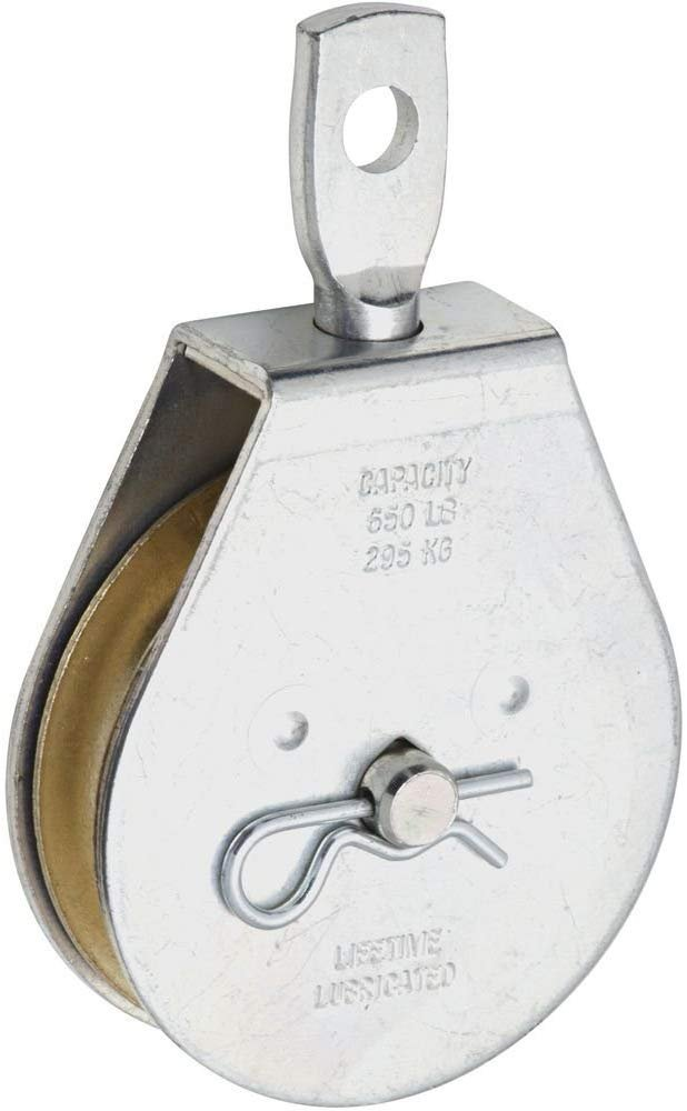 National Hardware N220-004 3211BC Swivel Single Pulley in Zinc plated