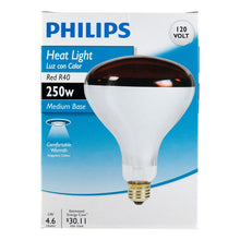 Load image into Gallery viewer, Philips 415836 Heat Lamp Bulb 250-Watt R40 Red 4 Pack