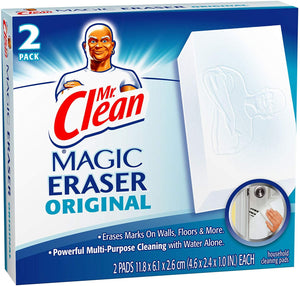 Mr Clean Erase and Renew Magic Eraser, Original, 2 Count (Pack of 3)