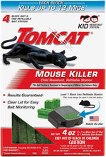 Load image into Gallery viewer, Tomcat Mouse Killer Refillable Bait Station for Indoor Use - Child Resistant (1 Station with 4 Baits)