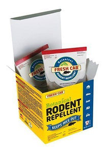 Fresh Cab FC6 Botanical Rodent Repellent Keeps Mice and Rats Out, Federal EPA Registered for Use Indoors and in Enclosed Spaces, 2.5 Ounce x 4 Scent Pouches x 4 Pack (Total 16 Pouches)