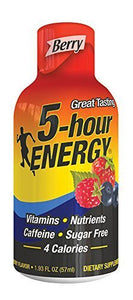 5 Hour Energy Drink Shot, Berry, 3Pack (24 Count Each ) Nm@kSd
