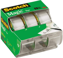"Load image into Gallery viewer, Scotch 3105 3/4"" x 300"" Scotch Magic Tape 3 Pack"