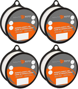 South Bend Monofilament Fishing Line (8 lbs Test, 765 Yards, 4 Pack)