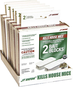 JT Eaton 932 2-Pack Top Gun Disposable Mouse Bait Station with 1-Ounce of Bait
