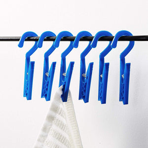 Homz Drip Dry Clothespin 6 Count Blue