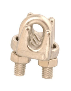 "Campbell T7633003 3/16"" Wire Rope Clip, Stainless Steel, Polished"