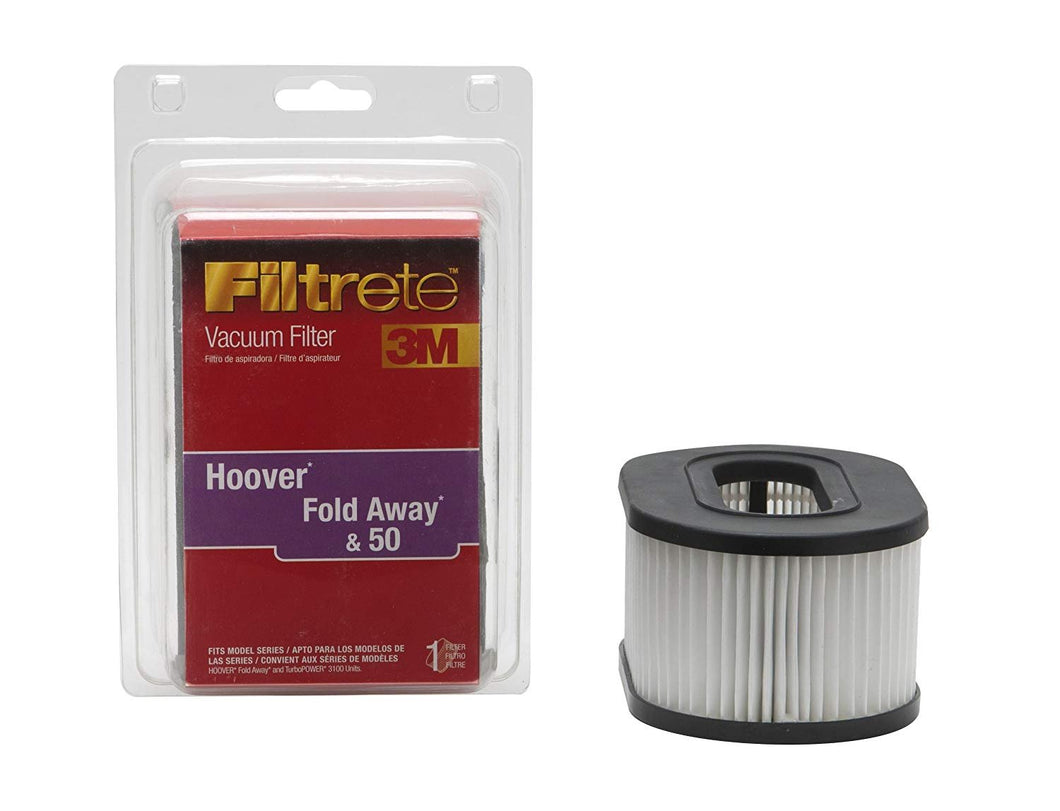 3M Filtrete Hoover Fold Away & 50 Allergen Vacuum Filter