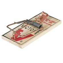 Load image into Gallery viewer, Victor Metal Pedal Mouse Trap - 2 Pack M023 - Wood Mouse Trap