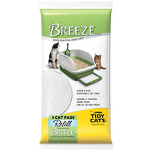 "Load image into Gallery viewer, Breeze Tidy Cat Litter Pads 16.9""x11.4""(1 pack of 4 pads)"