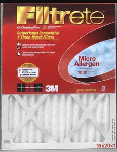 14x25x1 (13.7 x 24.7) Filtrete 1000 Filter by 3M (4 Pack)