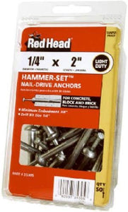 ITW Brands 35303 50PK 1/4x1-1/2 Anchor