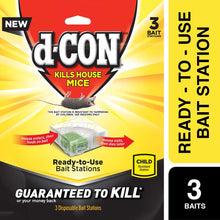 Load image into Gallery viewer, D-ConMouse Poison Bait Station, 3 Count