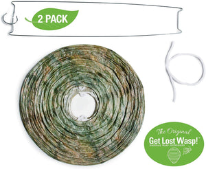 FMI Brands Inc. Original Get Lost Wasp Natural and Safe Non-Toxic Hanging Wasp Deterrent - for Wasps Hornets Yellowjackets, 2-Pack Effective Eco-Friendly Decoy Repellent