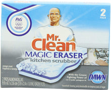Load image into Gallery viewer, Mr Clean Magic Eraser Kitchen Scrubber, 2-Count (Pack of 3)