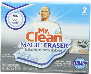 Mr Clean Magic Eraser Kitchen Scrubber, 2-Count (Pack of 3)
