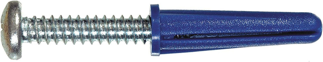 The Hillman Group 5069 Blue Ribbed Plastic Anchors