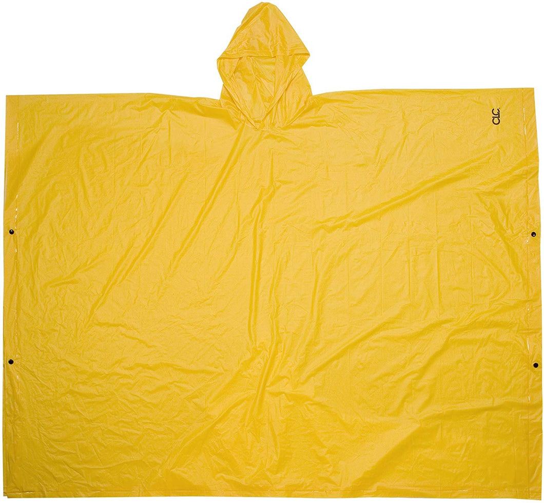 CLC Rain Wear R10410 .10MM PVC Poncho - Yellow Large
