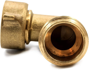 Camco 90 Degree Hose Elbow- Eliminates Stress and Strain On RV Water Intake Hose Fittings, Solid Brass (22505)