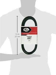 "Gates 6887 PoweRated V-Belt, 4L Section, 1/2"" Width, 5/16"" Height, 87.0"" Belt Outside Circumference"