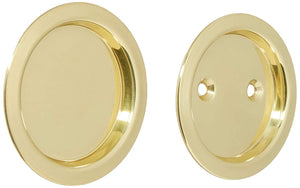 Stanley N350-330 National Hardware Pocket Door Pull, Steel Brass