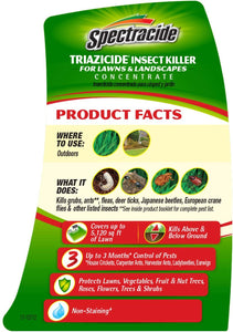Spectracide Triazicide Insect Killer for Lawns & Landscapes Concentrate, 32-oz, 4-PK