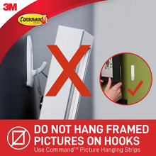 Load image into Gallery viewer, Command White Hooks (GP001-9NA)- 9 hooks and 12 strips