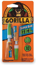 Load image into Gallery viewer, Gorilla Super Glue Gel, Two 3 Gram Tubes, Clear, (Pack of 3)
