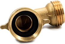 Load image into Gallery viewer, Camco 90 Degree Hose Elbow- Eliminates Stress and Strain On RV Water Intake Hose Fittings, Solid Brass (22505)