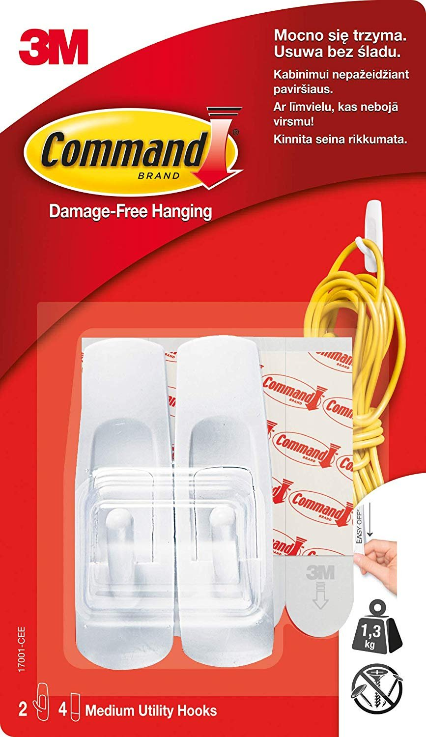 Command White Hooks (GP001-9NA)- 9 hooks and 12 strips