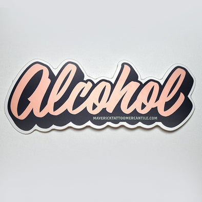 "Individual ""ALCOHOL"" label sticker"