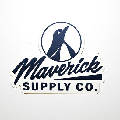 Maverick Supply Co. Shop sticker